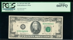 Fr. 2073-B 1981 $20 Federal Reserve Note New York PCGS 66PPQ B59199656D