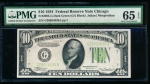 Fr. 2005-G 1934 $10 Federal Reserve Note Chicago PMG 65EPQ G26654835A