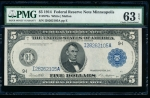 Fr. 879a 1914 $5 Federal Reserve Note Minneapolis PMG 63EPQ I28262105A