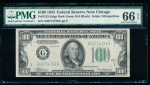 Fr. 2152-G 1934 $100 Federal Reserve Note Chicago PMG 66EPQ G03774720A
