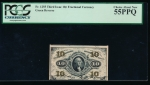 Fr. 1255  $0.10 Fractional Third Issue; Green Back PCGS 55PPQ no serial number