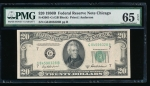 Fr. 2061-G 1950B $20 Federal Reserve Note GB block PMG 65EPQ G84598328B