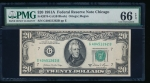 Fr. 2074-G 1981A $20 Federal Reserve Note GB block PMG 66EPQ G40451262B