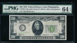 Fr. 2054-C 1934 $20 Federal Reserve Note Philadelphia PMG 64EPQ C03819849A