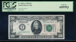 Fr. 2050-G 1928 $20 Federal Reserve Note Chicago PCGS 65PPQ G06758707A