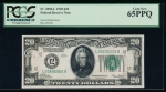 Fr. 2050-L 1928 $20 Federal Reserve Note San Francisco PCGS 65PPQ L00696560A