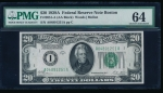 Fr. 2051-A 1928A $20 Federal Reserve Note Boston PMG 64 A04891251A