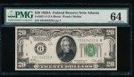 Fr. 2051-F 1928 $20 Federal Reserve Note Atlanta PMG 64 F05104222A
