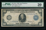 Fr. 948 1914 $10 Federal Reserve Note San Francisco PMG 20 comment L1769815A