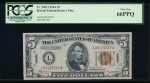 Fr. 2302 1934 $5 Hawaii  PCGS 66PPQ L68126097A