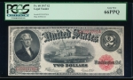 Fr. 60 1917 $2 Legal Tender  PCGS 66PPQ E25919781A