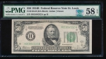 Fr. 2104-H 1934B $50 Federal Reserve Note Saint Louis PMG 58EPQ H10894532A