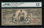 Fr. 247 1896 $2 Silver Certificate  PMG 12 comment 7443910