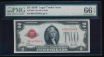 Fr. 1503 1928B $2 Legal Tender BA block PMG 66EPQ B02470540A