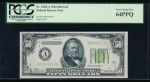Fr. 2102-A 1934 $50 Federal Reserve Note Boston LGS PCGS 64PPQ A00649478A