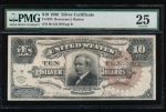 Fr. 295 1886 $10 Silver Certificate  PMG 25 comment B11311078