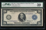 Fr. 969 1914 $20 Federal Reserve Note New York PMG 30 B20322821A