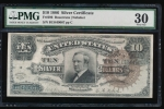 Fr. 296 1886 $10 Silver Certificate  PMG 30 comment B13449007