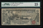 Fr. 225 1896 $1 Silver Certificate  PMG 25 51190037