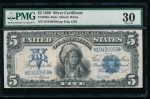 Fr. 280 1899 $5 Silver Certificate  PMG 30 comment N19430958