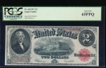 Fr. 60 1917 $2 Legal Tender  PCGS 65PPQ D47329632A