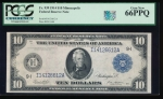 Fr. 939 1914 $10 Federal Reserve Note Minneapolis PCGS 66PPQ I14126612A