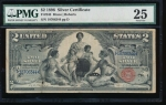 Fr. 248 1896 $2  Silver Certificate  PMG 25 comment 18706344