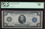 Fr. 986 1914 $20  Federal Reserve Note Atlanta PCGS 58 F9170122A