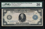 Fr. 930 1914 $10  Federal Reserve Note Chicago PMG 30 G48231525A