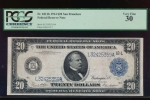 Fr. 1011b 1914 $20  Federal Reserve Note San Francisco PCGS 30 L32425359A
