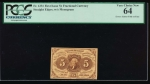 Fr. 1231  $0.05  Fractional error: gutter fold on face PCGS 64 no serial number