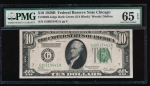 Fr. 2002-G 1928B $10  Federal Reserve Note Chicago PMG 65EPQ G30918441A