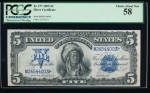 Fr. 277 1899 $5  Silver Certificate  PCGS 58 M24544003