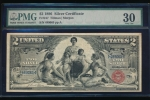 Fr. 247 1896 $2  Silver Certificate  PMG 30 489065