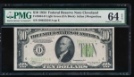 Fr. 2004-D 1934 $10  Federal Reserve Note Cleveland LGS PMG 64EPQ D06223241A