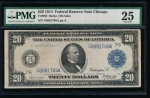 Fr. 988 1914 $20  Federal Reserve Note Chicago PMG 25 G8891789A