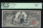 Fr. 248 1896 $2  Silver Certificate  PCGS 64 12063981