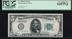 Fr. 1950-K 1928 $5  Federal Reserve Note Dallas PCGS 64PPQ K01709495A