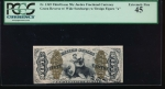"Fr. 1369  $0.50  Fractional Third Issue; Green Reverse, Wide Surcharge, with ""a"" PCGS 45 no serial number"