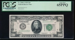 Fr. 2050-I 1928 $20  Federal Reserve Note Minneapolis PCGS 65PPQ I02031435A