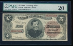 Fr. 359 1890 $5  Treasury Note  PMG 20 A1066748*