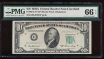 Fr. 2011-D 1950A $10  Federal Reserve Note Cleveland star PMG 66EPQ D01381073*