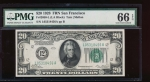 Fr. 2050-L 1928 $20  Federal Reserve Note San Francisco PMG 66EPQ L05318456A