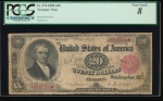 Fr. 374 1890 $20  Treasury Note  PCGS 8 comment A918524*