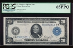 Fr. 971a 1914 $20  Federal Reserve Note New York PCGS 65PPQ B58235051A