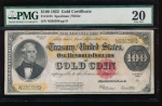 Fr. 1215 1922 $100  Gold Certificate  PMG 20 N936388