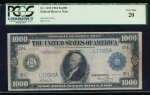 Fr. 1133-L 1918 $1,000  Federal Reserve Note San Francisco PCGS 20 L17685A
