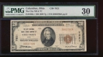 Fr. 1802-1 1929 $20  National: Type I Ch #7621 The City National Bank & Trust Company of Columbus, Ohio PMG 30 D003790A
