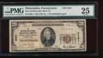 Fr. 1802-1 1929 $20  National: Type I Ch #3491 The Northwestern National Bank and Trust Company of Philadelphia, Pennsylvania PMG 25 E001042A