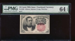 Fr. 1265  $0.10  Fractional Fifth Issue: Long, Thin Key PMG 64EPQ no serial number